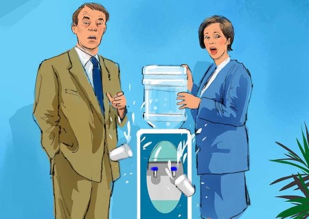 At the Water Cooler